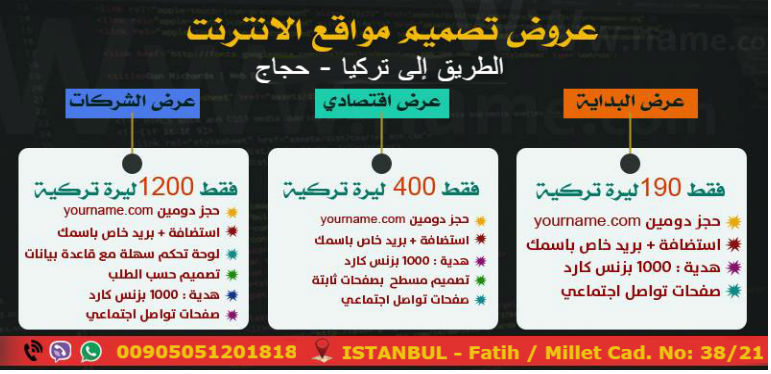 تصميم مواقع في تركيا